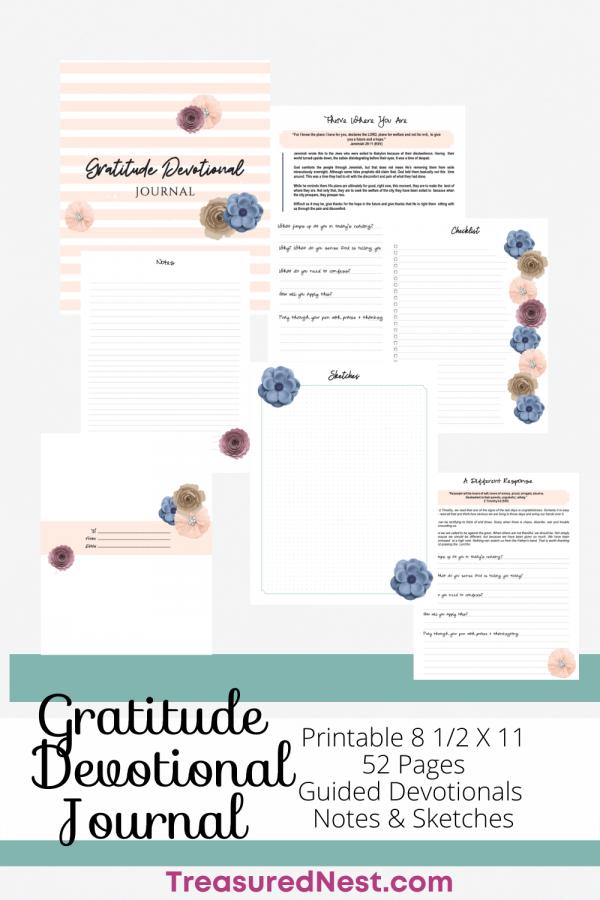 Christian Gratitude Devotional Journal