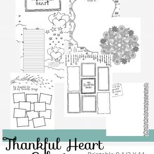 Treasured Nest Thankful Heart Coloring Journal